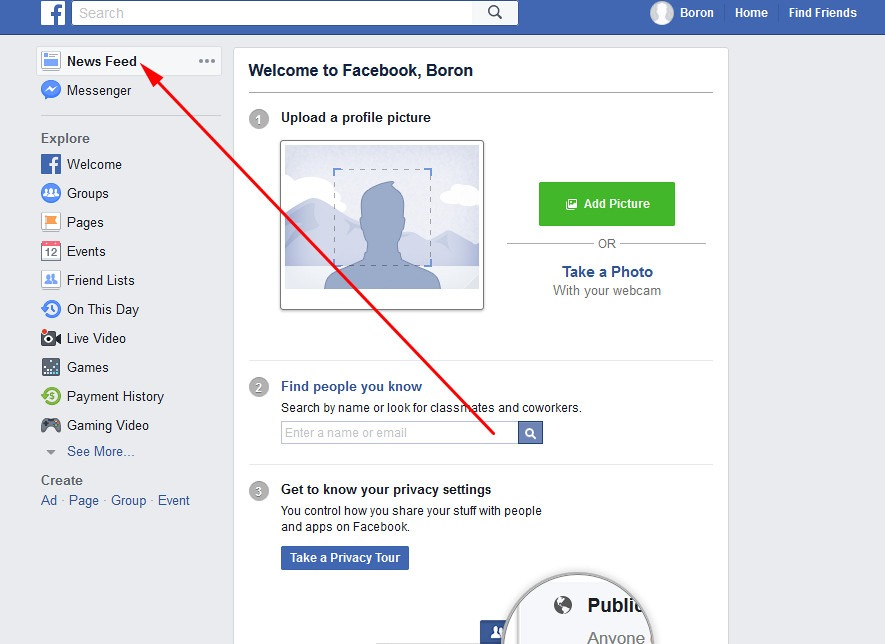 make an account on facebook