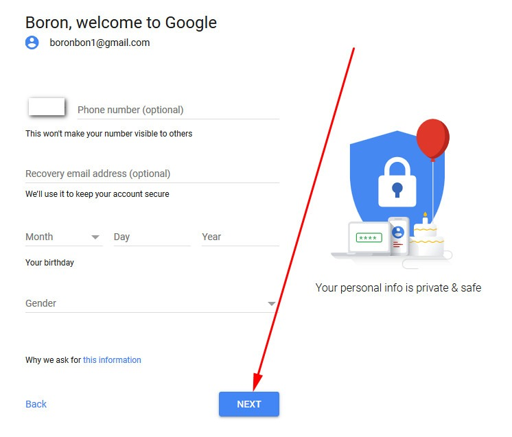 make gmail account