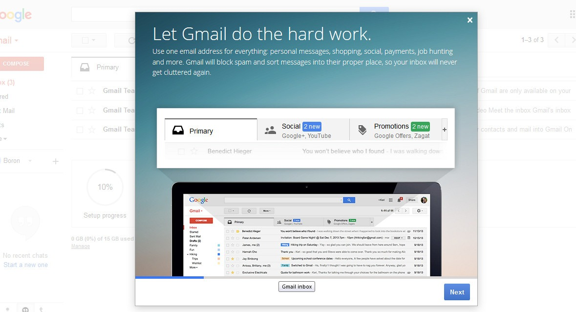 register account on gmail