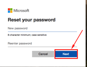 how to reset hotmail account